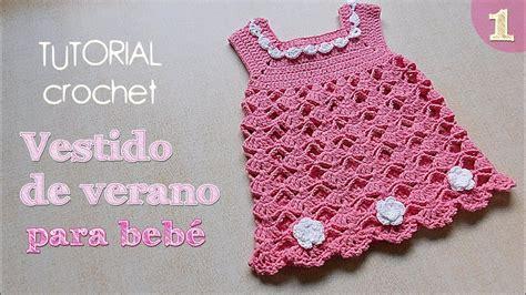 Como tejer vestido a crochet para bebe (1/2) YouTube