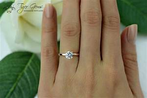 1 carat 4 prong engagement ring rose solitaire ring man With 1 carat wedding ring