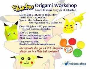 March Break Pokmon Origami Workshop The Ikebana Shop