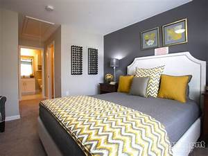 Yellow and grey bedroom idea chevron throw i love this