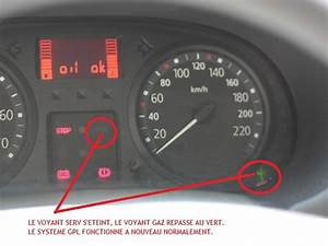 Eteindre le voyant SERV et GAZ allumé Clio II GPL [TUTO]
