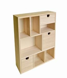 Casier A Tiroir : meuble en bois avec tiroirs et casiers 30x40x10cm artemio 14002156 ~ Teatrodelosmanantiales.com Idées de Décoration