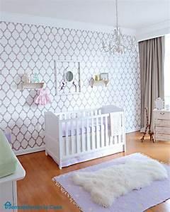 deco mur chambre bebe 50 idees charmantes With papier peint pour chambre bebe fille