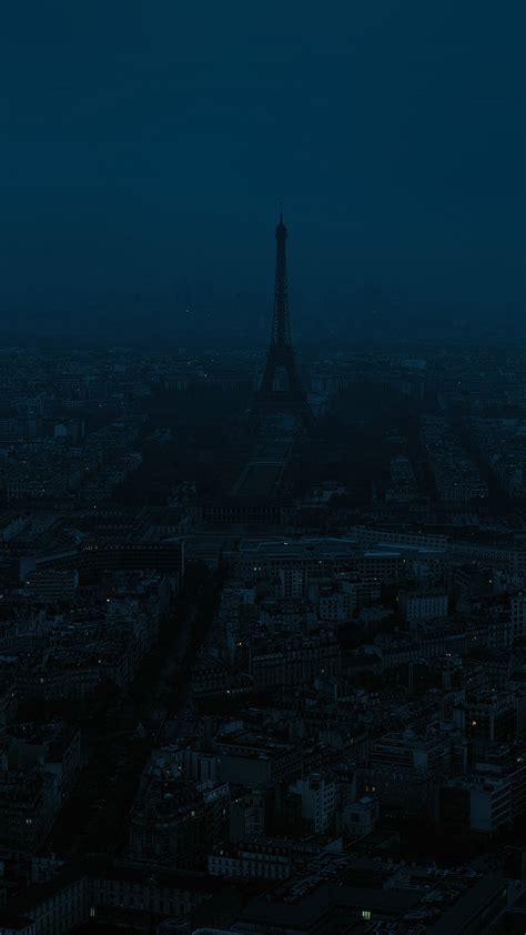 bb paris dark blue city illustration art wallpaper