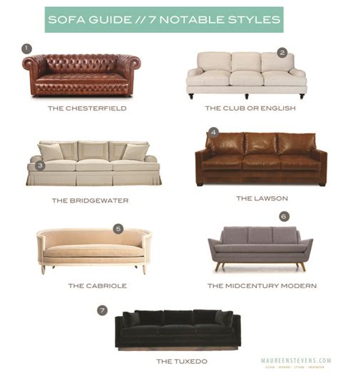 styles  sofa  types  sofas couches explained