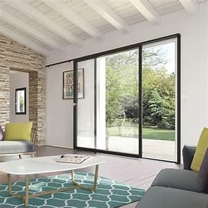 Baie à Galandage : baie vitr e simple coulissant mural multimat riaux ~ Melissatoandfro.com Idées de Décoration