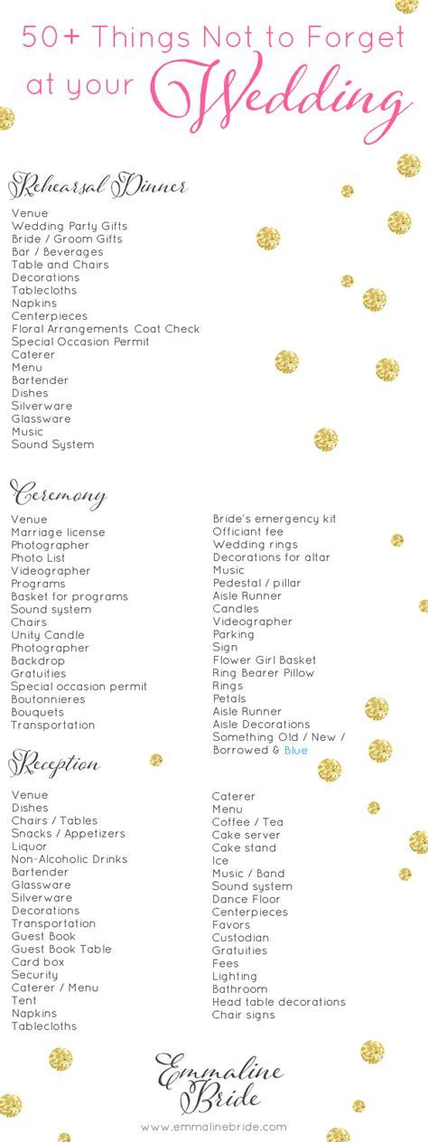 wedding day checklist printable     forget