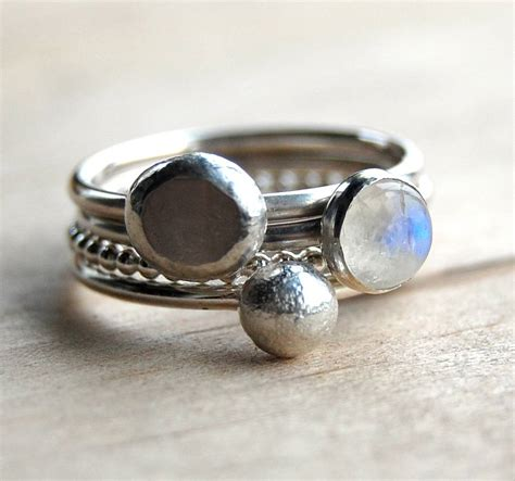 Moonlight Silver And Moonstone Stacking Rings By Alison. Celtic Brooch. Locket Sapphire. Renaissance Bands. Garnet Diamond. Konstantino Rings. Costume Jewelry Necklaces. Soccer Bands. Elle Rings