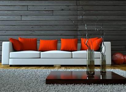 Sofa Interior Wallpapers Stylish Salon Vase Background