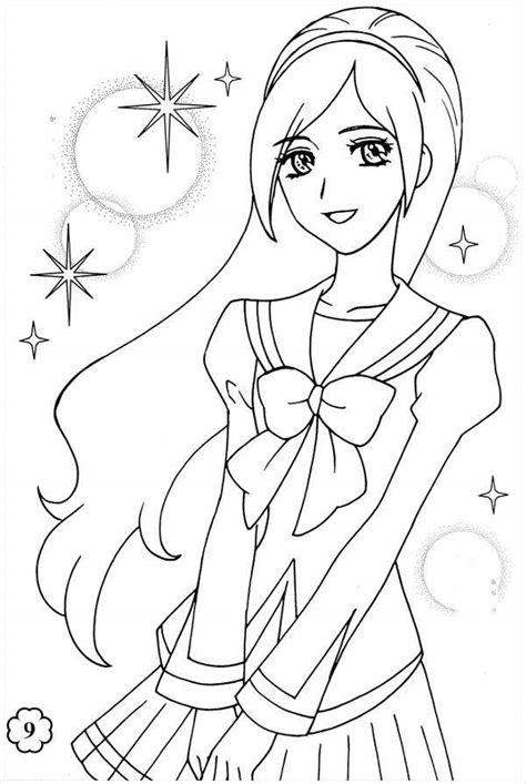 anime girl coloring pages  jpg ai illustrator  premium templates
