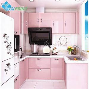 New red paint waterproof diy decorative film pvc for Kitchen colors with white cabinets with are vinyl stickers waterproof