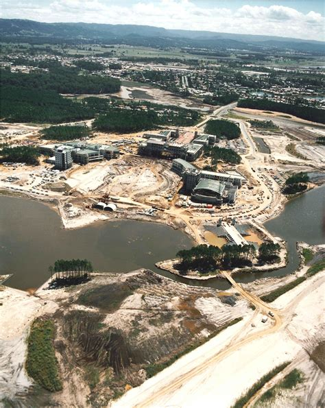 1989 aerial views of the construction of Bond University ...