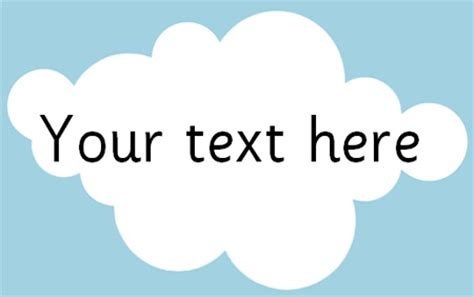 clouds editable text  early years primary