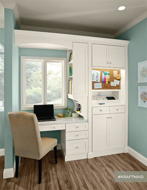 kraftmaid kitchen home office area traditional home