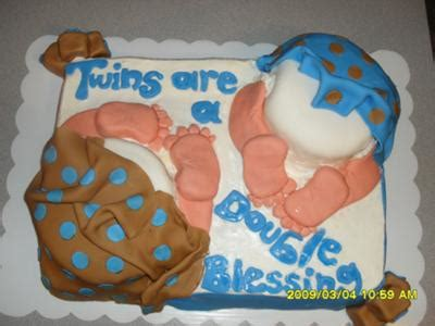 twin baby shower cakes  pictures  instructions
