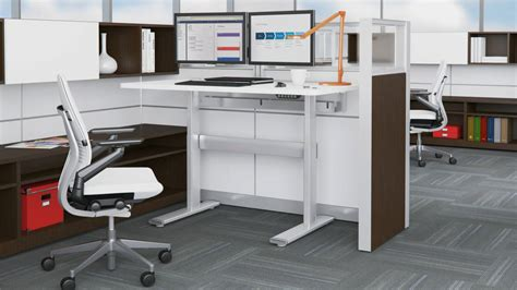 auto height adjustable desk series 7 electric adjustable tables steelcase