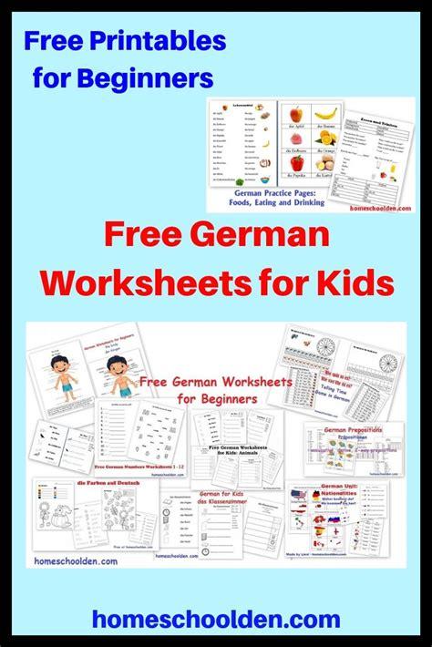 german worksheets  beginners learning german