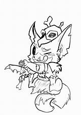 Legends League Gnar Lineart Lol Coloring Pages Surprise Drawings Teemo Deviantart Template Sketch Templates sketch template