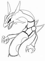 Rayquaza Coloring Pages Printable Pokemon Drawing Mega Legendary Recommended Getdrawings Colors sketch template