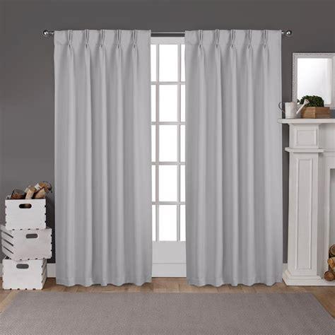 Drapes Pinch Pleat by Sateen Pinch Pleat Silver Woven Blackout Window Curtain