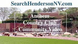 Living in Henderson, Nv: Anthem Country Club - YouTube