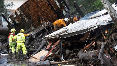 California Mudslides Kill 13 People As Search For