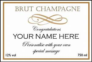 customised champagne luxury champagne gifts custom With champagne bottle label template