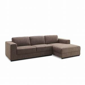 canape quotnewmanquot marron angle droit With canape angle droit marron