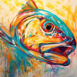 Expressionism Artworks expressionist redfish painting by savlen art