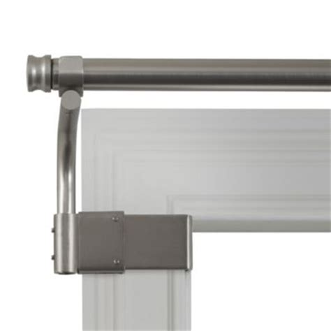 no drill curtain rods walmart adjustable gripper brushed nickel window curtain rods