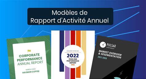 rapport dactivite annuel  modeles personnalisables