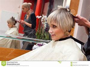 Hair Stylist At Work Stock Image - Image: 18154791