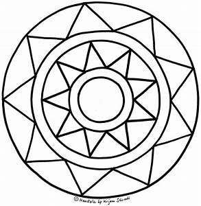 Hbsches Sterne Mandala Fr Kinder MandalaMalspiel