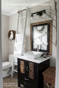 farmhouse bathrooms ideas salvaged farmhouse bathroom makeover with vintage trimfunky junk interiors