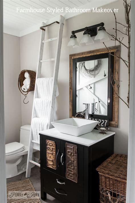farmhouse bathroom ideas salvaged farmhouse bathroom makeover with vintage trimfunky junk interiors