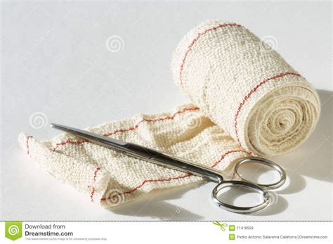 Bandage And Scissors Stock Image Image Of Elastic Cover