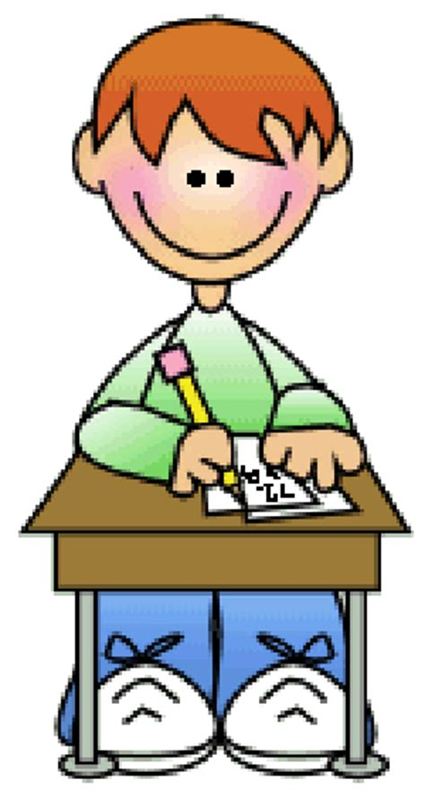 boy student working clipart gifted testing notification