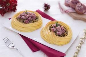Ricetta Nidi di patate con lenticchie e cotechino La Ricetta di GialloZafferano