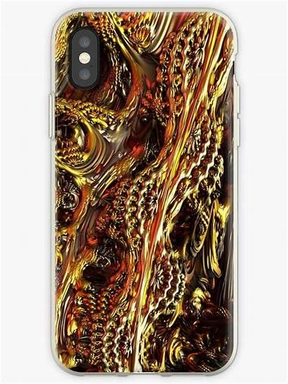 Fractal Mandelbulb Chaosemporium Metallic Iphone Case Fractals