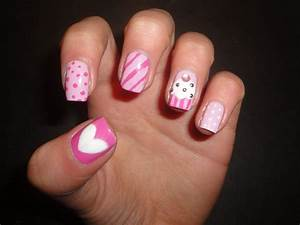 Bow ties and barrettes hot nail designs