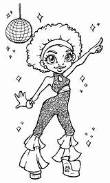 Coloring Disco Queen African Adult Colouring Sheets Stamps Dance Digital Outline Drawings Discos Barbie Template Printable Ball Crafts Stress Paint sketch template