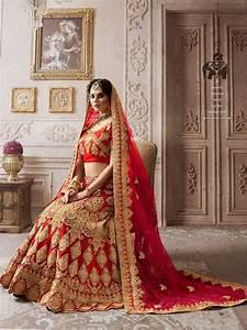 Wedding Wear Red Color Lehenga Choli