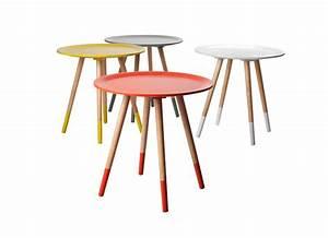 Table De Chevet Ronde : table de chevet ronde en bois design en image ~ Teatrodelosmanantiales.com Idées de Décoration