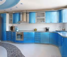 blue countertop kitchen ideas a metallic blue kitchen with modern curved cabinets