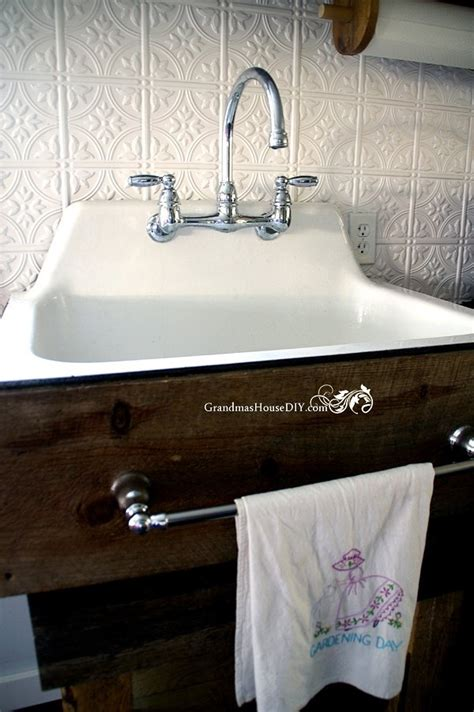 build   rustic kitchen sink base country diy