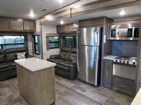 rv kitchen island 2018 open range roamer 337rls rear living 5th wheel with 2077