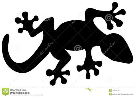 Lizard Silhouette Stock Vector. Illustration Of Wildlife