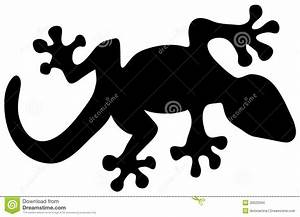 Lizard Silhouette Stock Images