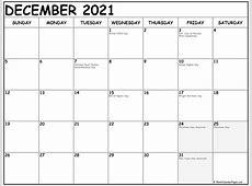 December 2021 calendar 51+ calendar templates of 2021