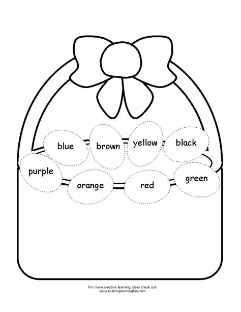 for children easter worksheets
